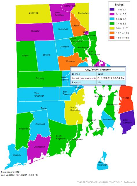 map of rhode island counties interactive heat map for snowfall measurements in rhode
