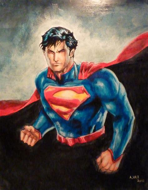superman painting superman new52 comic heroes villains