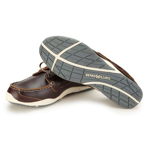 henri lloyd annapolis leather deck shoes 2015 brown pull