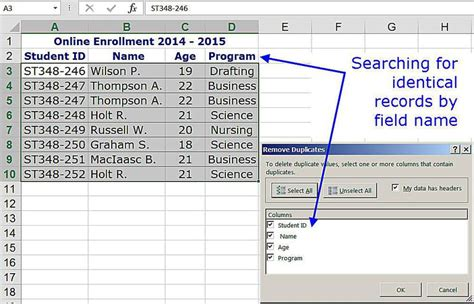 Record Search By Name Remove Duplicate Rows Of Data In Excel