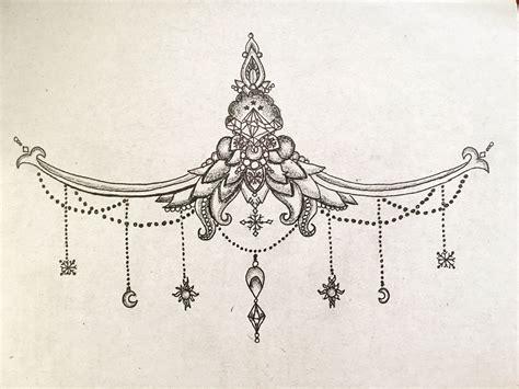 sternum tattoo designs acotar court summer court winter court sternum
