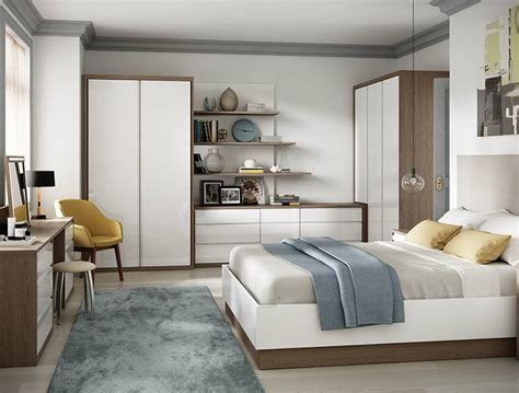 white gloss and oak bedroom furniture luxury fitted bedroom furniture built in wardrobes