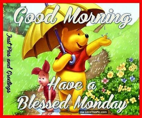 winnie  pooh good morning   blessed monday pictures   images  facebook