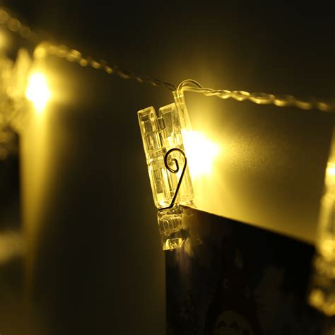 string lights with picture clips 5m photo window hanging clips 40 led string lights pegs