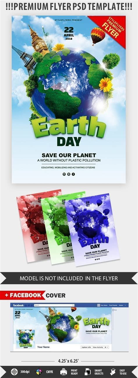 Earth Day Flyer Template Free