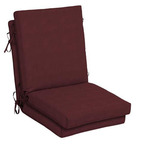 hton bay 21 x 20 outdoor dining chair cushion in - Home Depot Chair Cushions