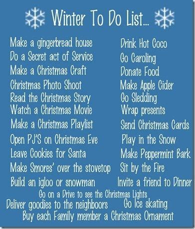 9 Cool Things To Do During The Holidays by 25 Best Ideas About Winter Lists On