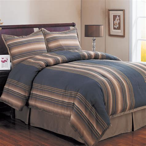 river stripe denim queen size comforter set