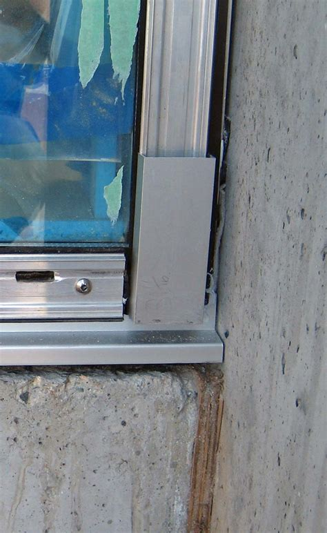 concrete curtain wall curtain wall at concrete wall jamb and sill detail partial