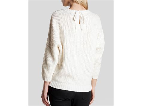 Bow Sweater lyst ted baker sweater eveleen bow back in white