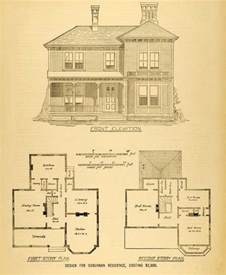 1878 print house architectural design floor plans 1878 print victorian villa house architectural design