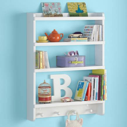 hanging bookshelves for kids rooms with simple design shelves and wall pegs kids room decor