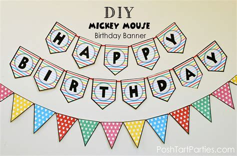 cute happy birthday banner printable party city happy birthday banner best business template