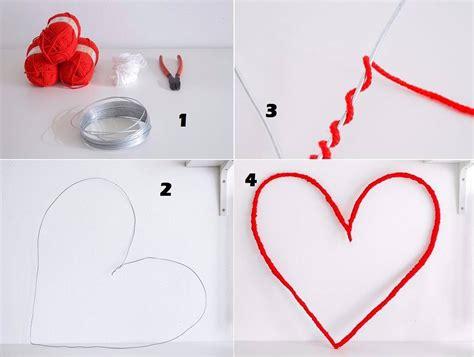 membuat gelang menggunakan benang wol tutorial membuat hiasan dinding berbentuk love heart dari