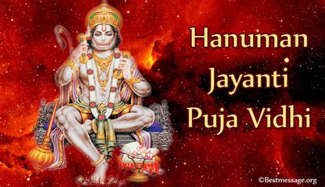hanuman jayanti pooja path hanuman jayanti puja vidhi