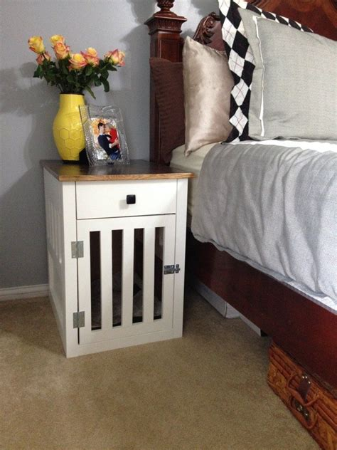 puppy crate in bedroom or not hometalk going to the dogs diy dog crate nightstands