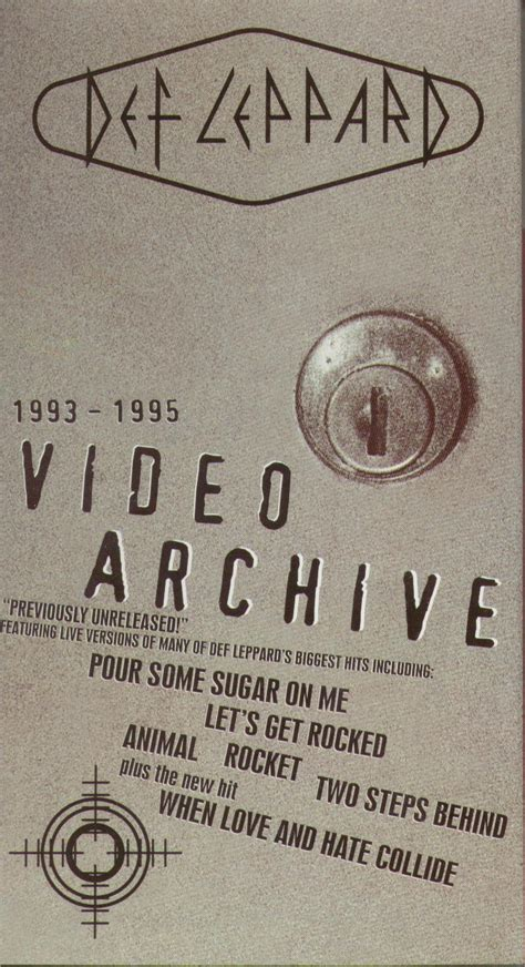 Vhs Def Leppard Archive def leppard archive reviews