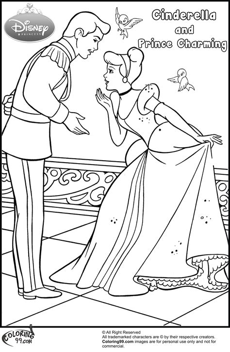 coloring pages of cinderella and prince charming fans request cinderella and prince charming coloring