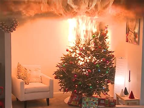 holidays on fire when christmas trees and candles lead to