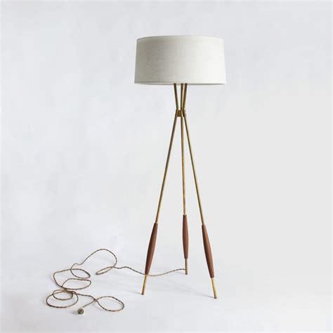 Modern Floor Lamps by Mulberry Tripod Floor Lamp Eggshell Linen Shade Modern