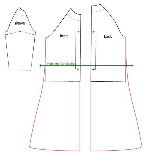 pattern making raglan sleeve raglan top to dress tutorial dixie diy