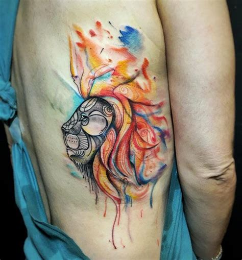 watercolor tattoo ribs best 25 watercolor ideas on