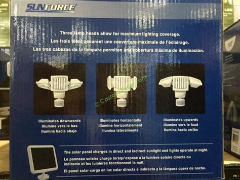 costco 962690 sunforce 150 led solar motion security light