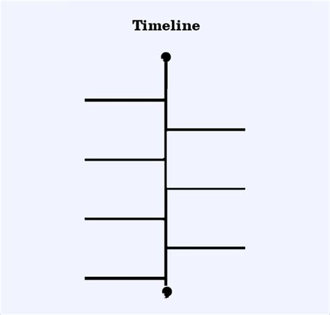blank timeline template blank timeline template 6 free sles exles formats