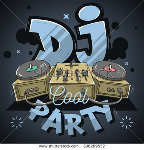 Mixer Audio Mickey turntable vector stock images royalty free images