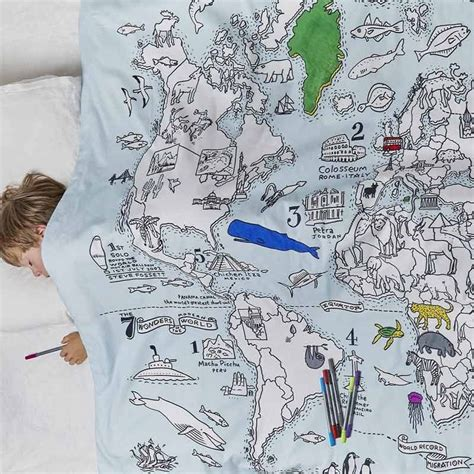 doodle world doodle world map duvet cover the present finder