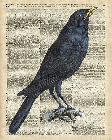 Duvet Dictionary Crow On Dictionary Book Page By Jacob Kuch
