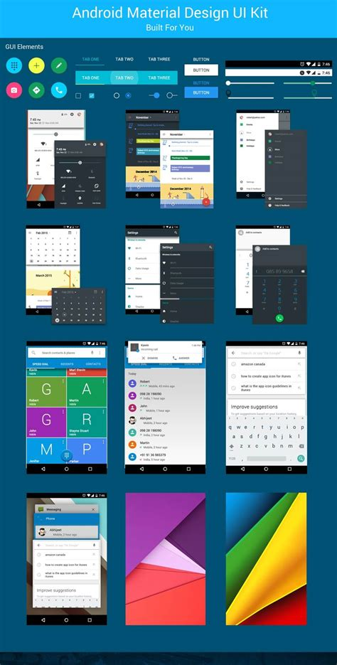 Material Design Ui Elements | android material design ui kit free download