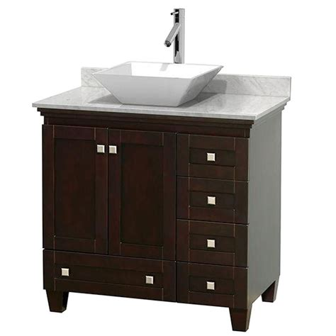 Modern Bathroom Vanities Canada Torino 36 Inch Light Oak Modern Bathroom Vanity With Vessel Sink Fvn6236lo Vsl In Canada