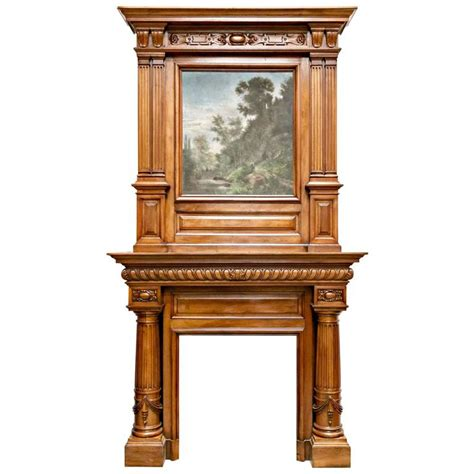 monumental antique renaissance fireplace mantel monumental renaissance revival walnut fireplace
