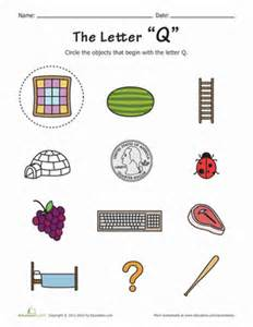 things that start with q worksheet education