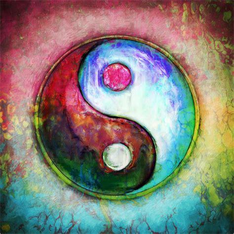 colorful yin yang dirk czarnota yin yang colorful painting 4 poster