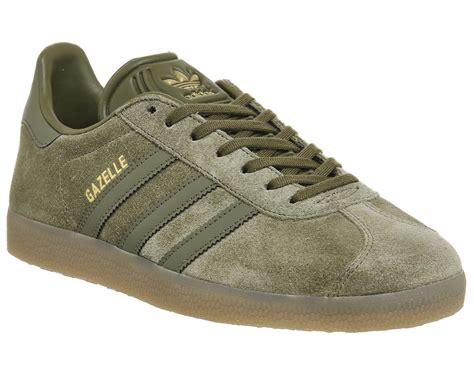 adidas originals gazelle olive shoe bb  green  men lyst