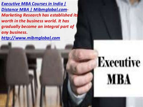 Mba Electives In India by Marketing Research Has Executive Mba Courses In India