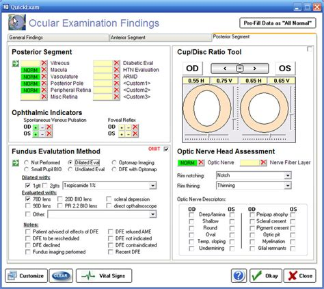 free emr templates ophthalmic emr ezchartwriter 4 4 4