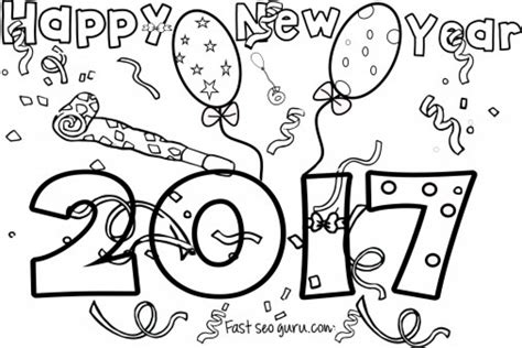 new years coloring pages online 20 free printable new years coloring pages