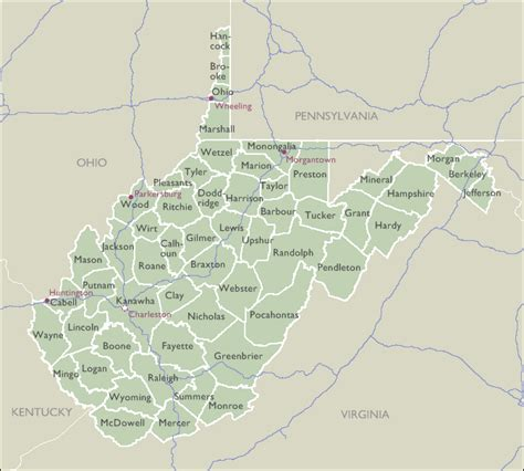 zip code map west virginia county zip code maps of west virginia