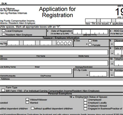 bir new form 2015 how to apply for taxpayer identification number tin ppn