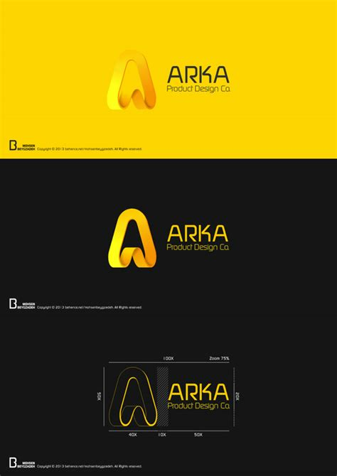 design a product logo arka product design co logo design by mohsen beygzadeh