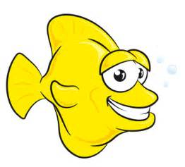 Yellow Cartoon Fish   lol rofl.com