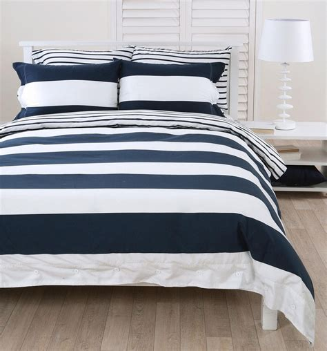 Navy And White Duvet Cover Set Navy White Striped Duvet Cover In With Our New