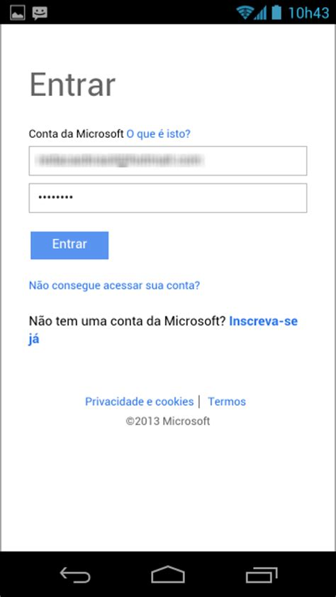layout tela de login android como incluir v 225 rias contas do hotmail no outlook com para