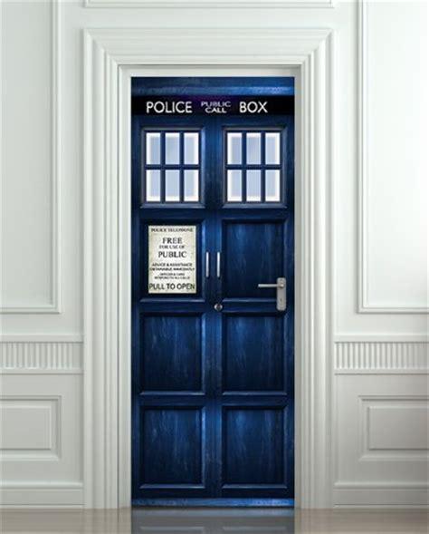 Vinyl Door Decal That Looks Like The Tardis From Doctor Who Tardis Interior Door
