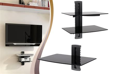 3 Shelf Wall Mount For Components by Argom Tv Component Shelf Groupon Goods