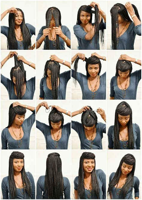 how to put up box braids in a ponytail african naturalistas how to style your box braids