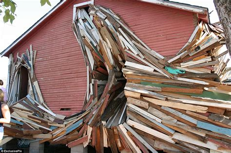 ruck house the men who make houses explode all for the sake of art daily mail online